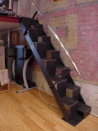 Cool space saving staircase designs ideas 34