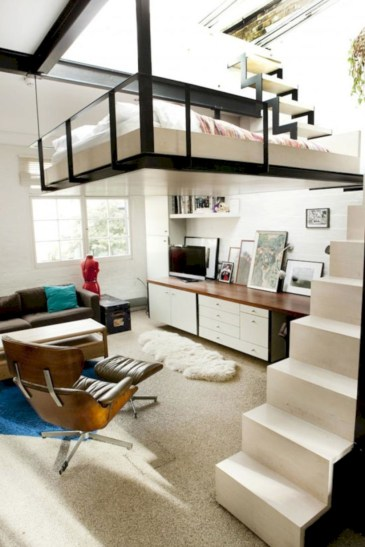 Cool space saving staircase designs ideas 36