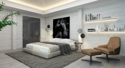 Cozy bedrooms design ideas with brilliant accent walls 18