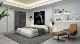 Cozy bedrooms design ideas with brilliant accent walls 18