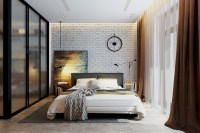 Cozy bedrooms design ideas with brilliant accent walls 35