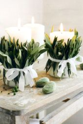 Fabulous christmas decoration ideas using candles 04
