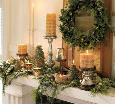 Fabulous christmas decoration ideas using candles 23