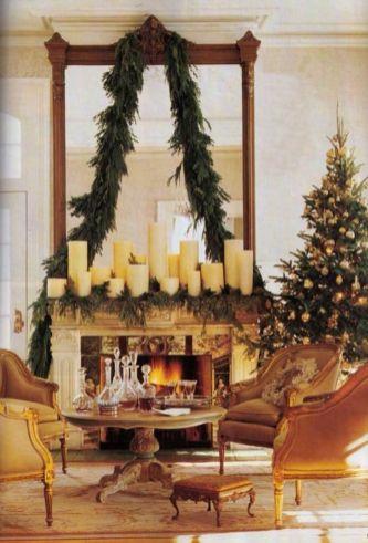 Fabulous christmas decoration ideas using candles 40