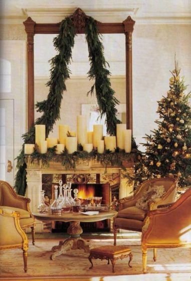 Fabulous christmas decoration ideas using candles 40