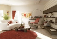 Gorgeous red and white living rooms ideas 02