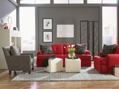 Gorgeous red and white living rooms ideas 03