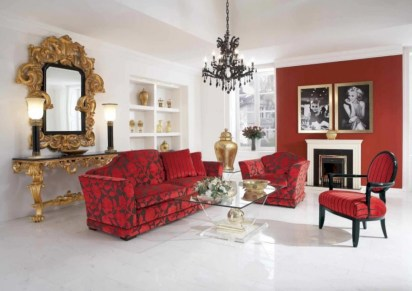 Gorgeous red and white living rooms ideas 05