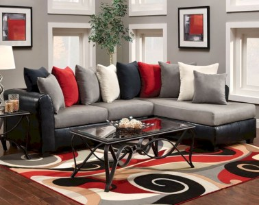 Gorgeous red and white living rooms ideas 08