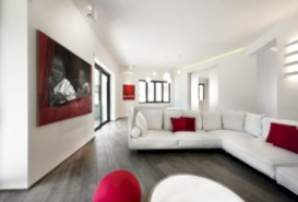Gorgeous red and white living rooms ideas 11