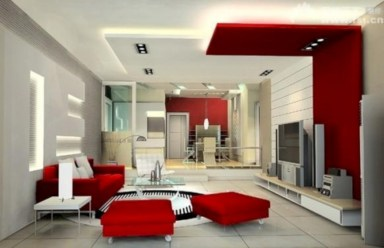 Gorgeous red and white living rooms ideas 40