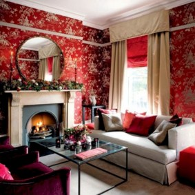 Gorgeous red and white living rooms ideas 41