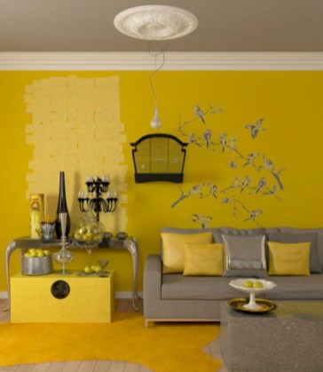 Gorgeous yellow accent living rooms inspiration ideas 02