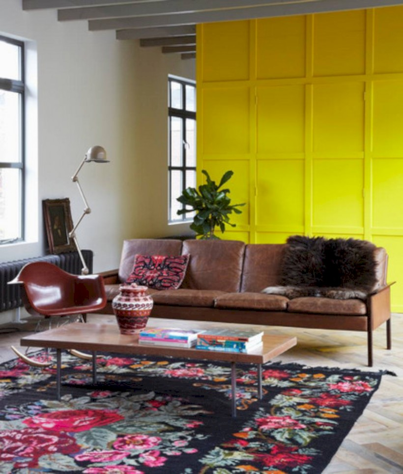 Gorgeous yellow accent living rooms inspiration ideas 12