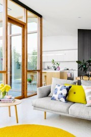 Gorgeous yellow accent living rooms inspiration ideas 14