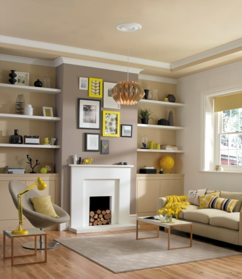Gorgeous yellow accent living rooms inspiration ideas 18