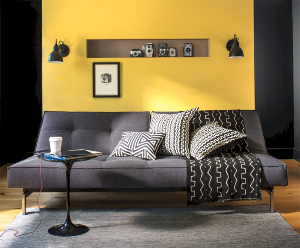 Gorgeous yellow accent living rooms inspiration ideas 23