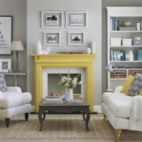 Gorgeous yellow accent living rooms inspiration ideas 34