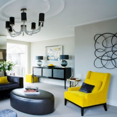 Gorgeous yellow accent living rooms inspiration ideas 37