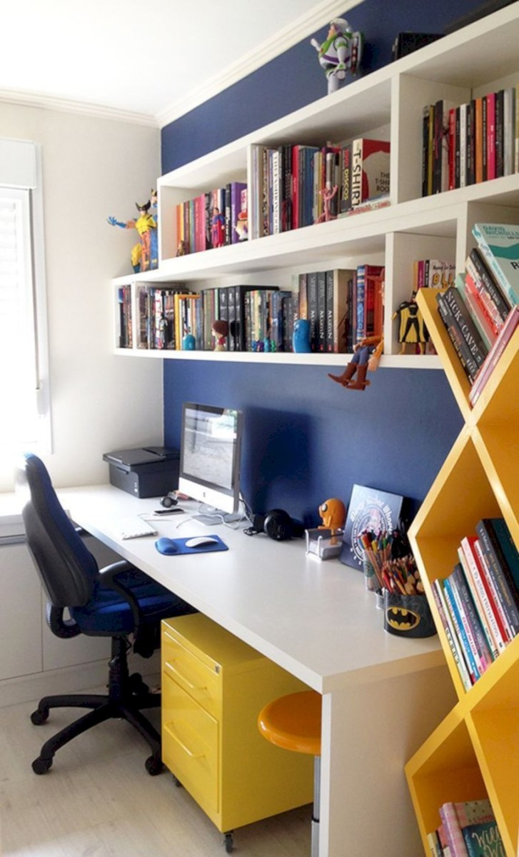 Inspirational home office desks ideas you will totally love 23