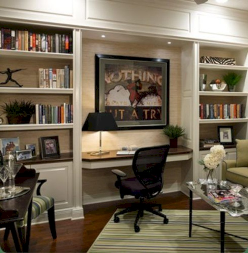 Inspirational home office desks ideas you will totally love 24
