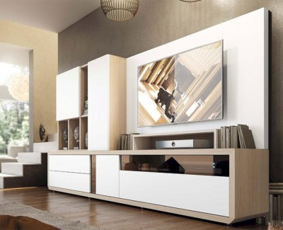 Modern living room wall units ideas with storage inspiration 05