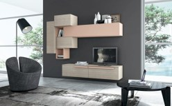 Modern living room wall units ideas with storage inspiration 08