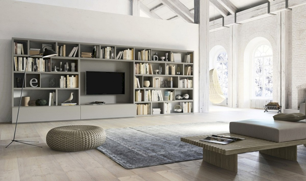Modern living room wall units ideas with storage inspiration 16
