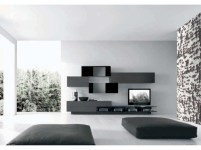 Modern living room wall units ideas with storage inspiration 21