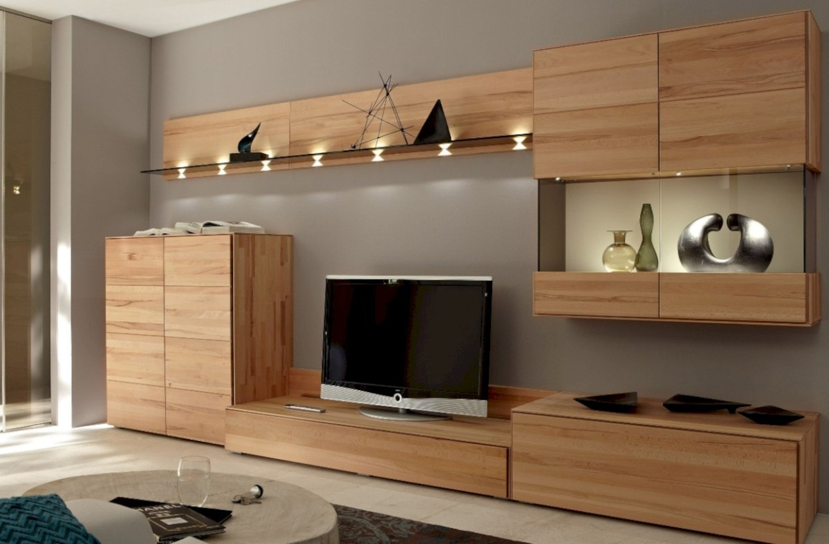 Modern living room wall units ideas with storage inspiration 22