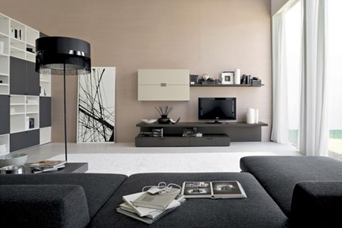 Modern living room wall units ideas with storage inspiration 23