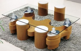 Modern and creative coffee tables design ideas 27