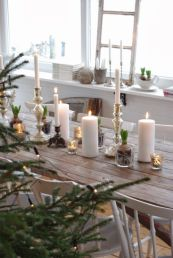 Simple rustic christmas table settings ideas 02