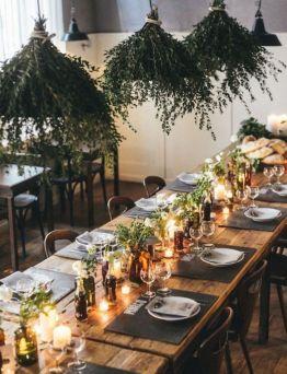 Simple rustic christmas table settings ideas 06