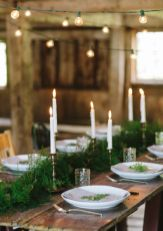 Simple rustic christmas table settings ideas 21