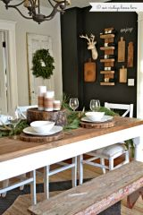 Simple rustic christmas table settings ideas 47