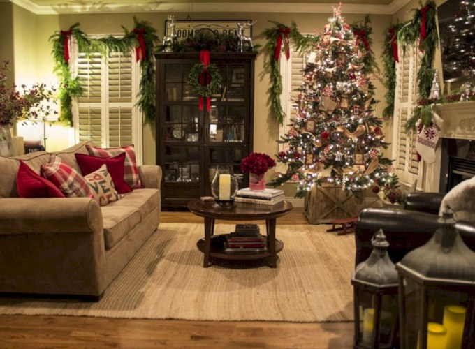 Stunning indoor rustic christmas decoration ideas 01