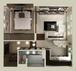 Stylish studio apartment floor plans ideas 02
