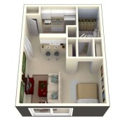 Stylish studio apartment floor plans ideas 04