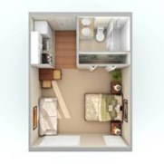Stylish studio apartment floor plans ideas 05
