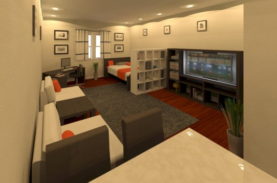 Stylish studio apartment floor plans ideas 06