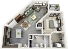 Stylish studio apartment floor plans ideas 20