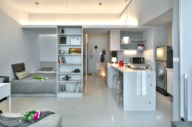 Stylish studio apartment floor plans ideas 22