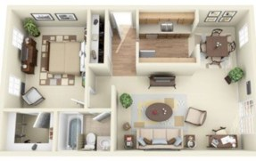Stylish studio apartment floor plans ideas 30