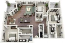 Stylish studio apartment floor plans ideas 31