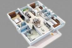 Stylish studio apartment floor plans ideas 32