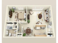 Stylish studio apartment floor plans ideas 39
