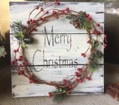 Stylish wood christmas decoration ideas 03