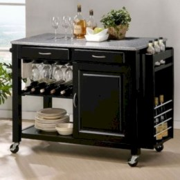Affordable apartment coffee bar cart inspirations ideas 01