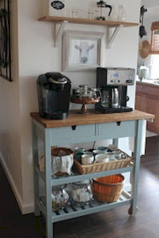 Affordable apartment coffee bar cart inspirations ideas 13